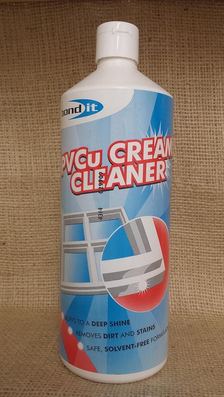 2 x BOND IT 1L PVCu Cream Cleaner double glazing conservatories windows doors
