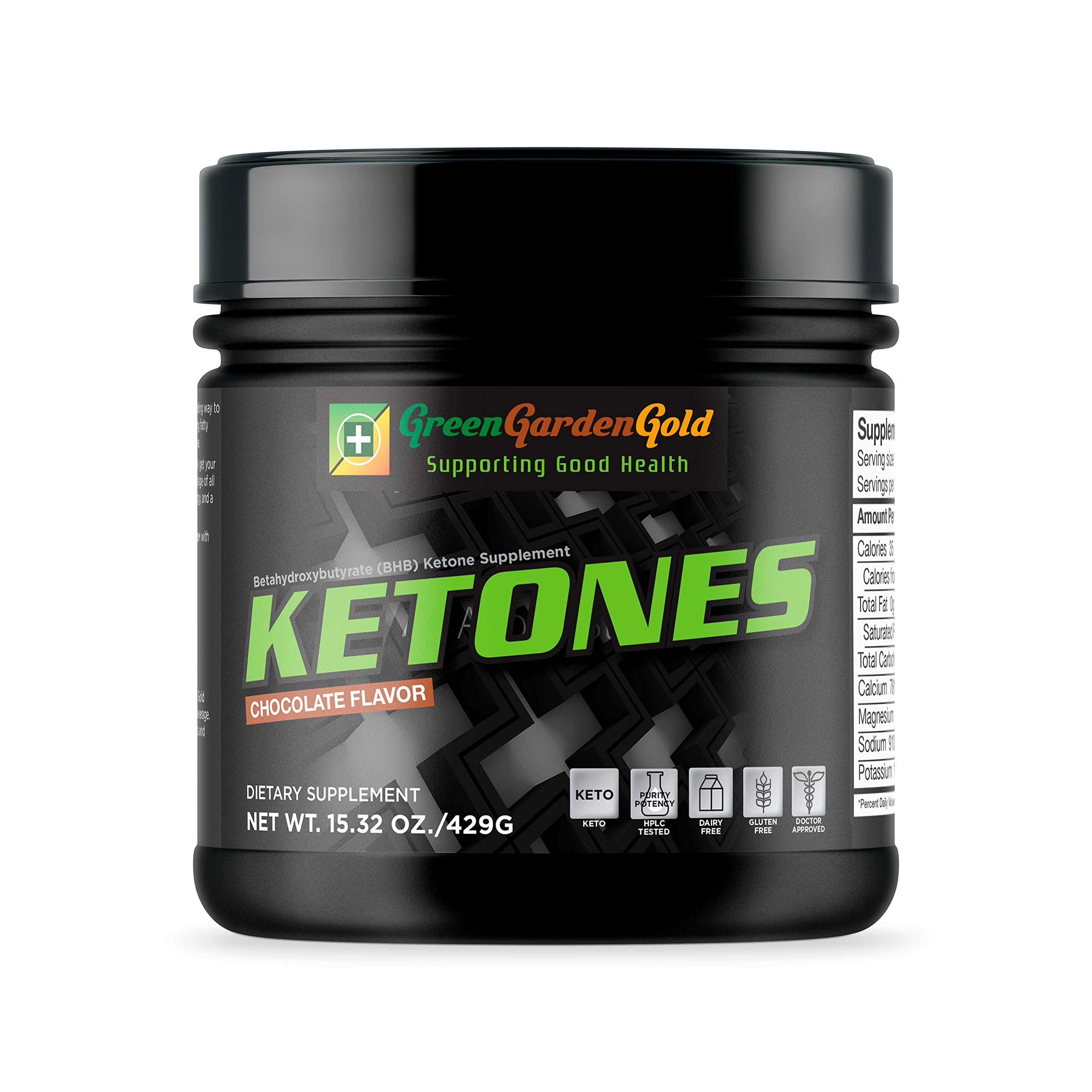 Exogenous Ketogenic Supplement by Green Garden Gold for Weight Loss, Getting Into Ketosis Quickly, and Energy Enhancement (15 OZ) Gluten-Free, Dairy-Free, Vegan Ketogenic Salt (Chocolate)