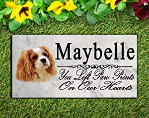 Broad Bay King Charles Spaniel Dog Memorial Stone Personalized King Charles Spaniel Sign Garden Marker Outdoor Grave Headstone Plaque