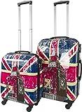 Hartschalen ABS hochglanz Koffer in verschiedenen Motiven und Ausführungen