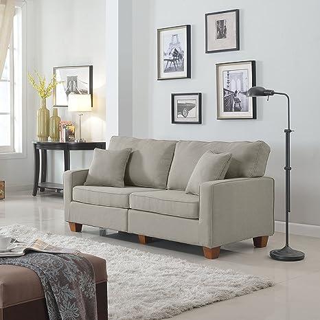 Amazon.com: Sofá de dos plazas para sala de estar de ...