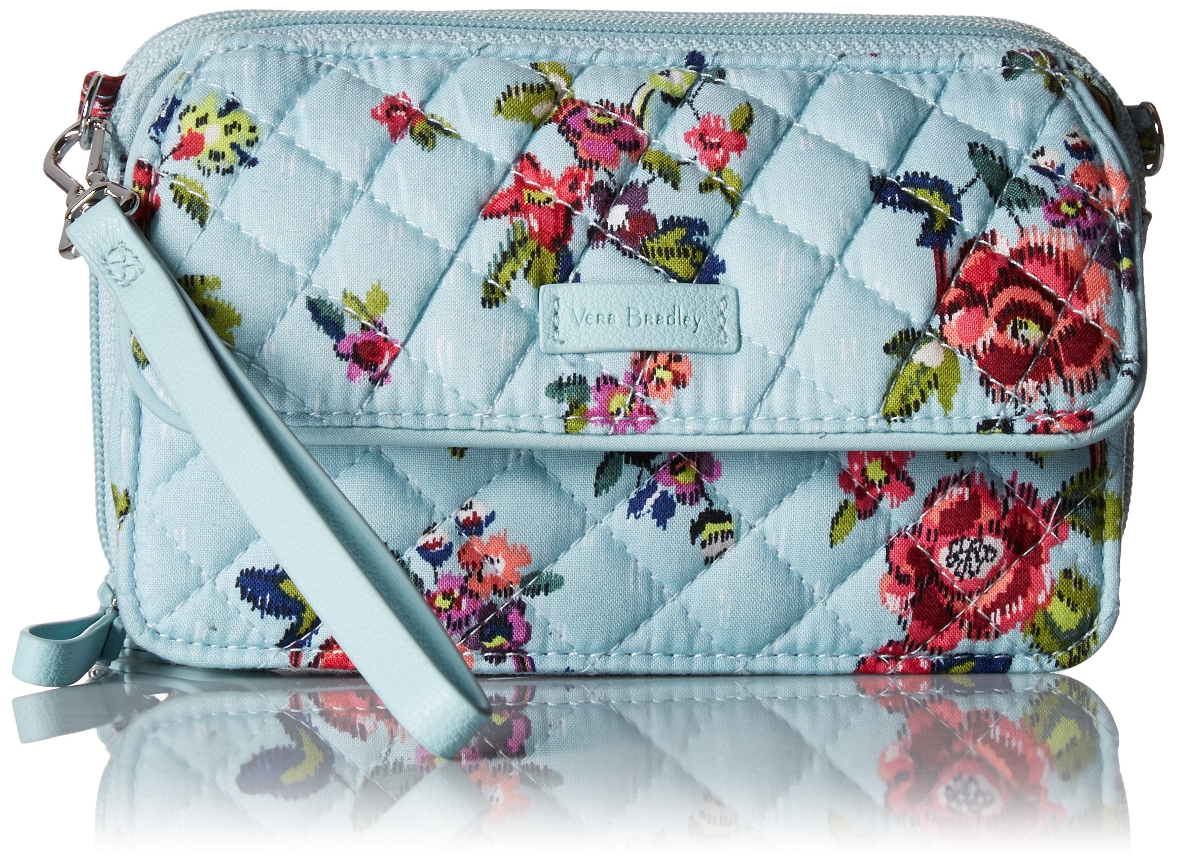 Vera Bradley Iconic Rfid All in One Crossbody, Signature Cotton, Water Bouquet