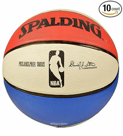 Amazon.com: Spalding Philadelphia 76ers Team Balón de ...