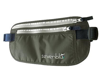 8f077bb5cf93 SevenBlu #1 RFID Travel Money Belt and Passport Holder ★ Fits Big Bills -  Secret Hidden Waist Pack Bag - Perfect Undercover Wallet Pouch for Men & ...