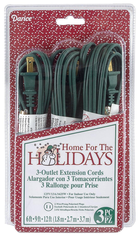 Darice Toolbox 3 Outlet Extension Cord Green Garden Wiring A Polarized Plug Outdoor
