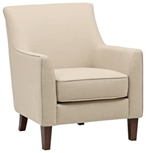 "Stone & Beam Cheyanne Accent Chair, 31""W, Marshmallow"