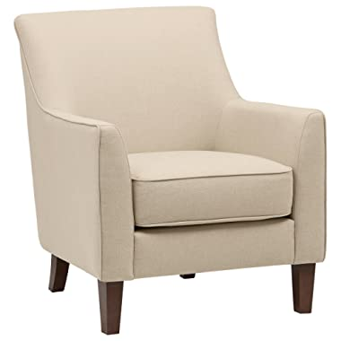 Stone & Beam Cheyanne Living Room Accent Chair, 31 W, Marshmallow