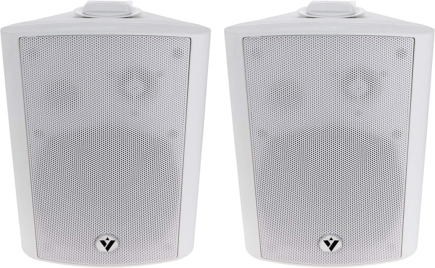 """Voyz 5 1/4"""" White Architectural Speakers -70V 100V Wall Speakers Pair of 2 Indoor and Outdoor 2-Way Passive Loudspeakers 