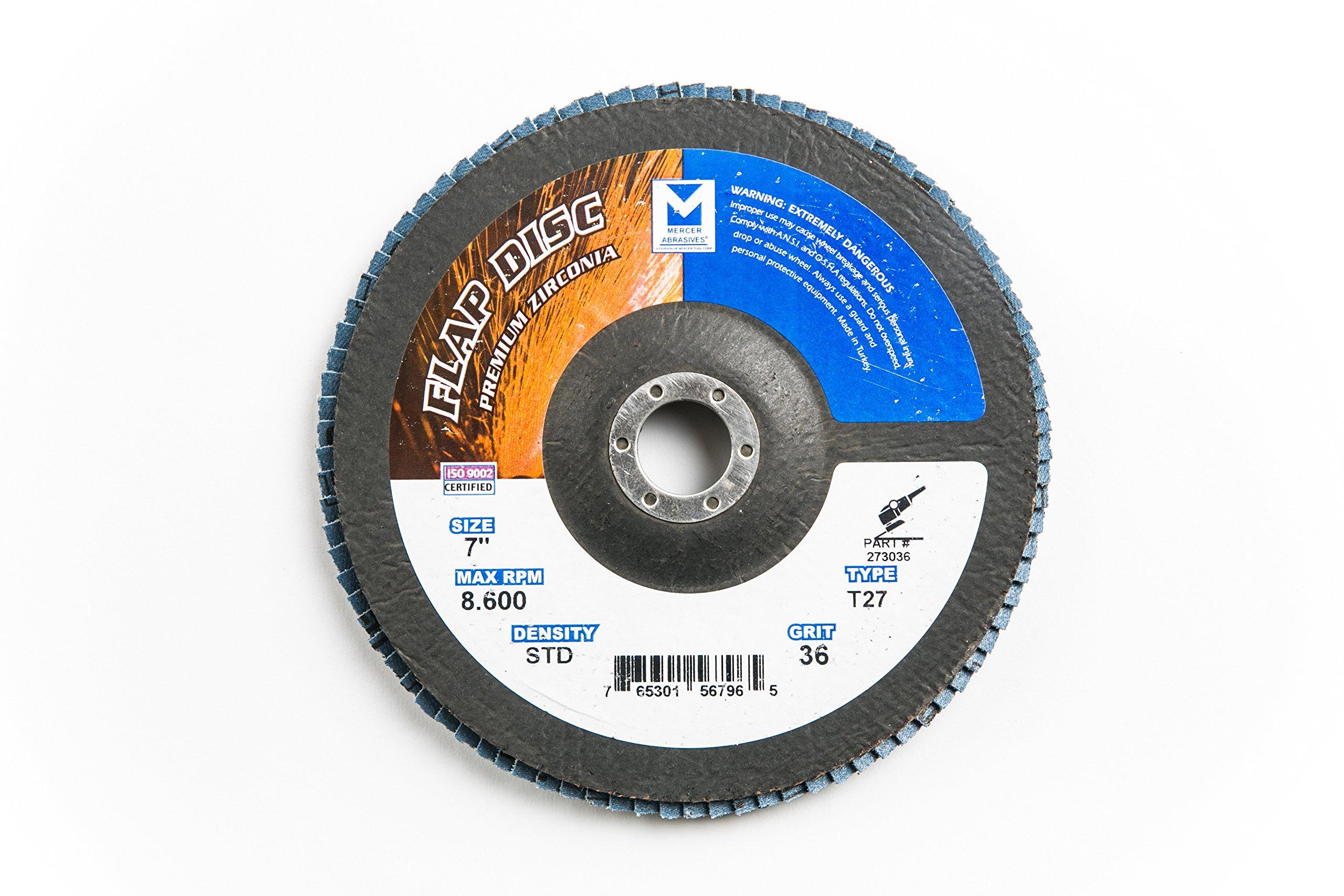 Mercer Industries 273036 Zirconia Flap Disc, Type
