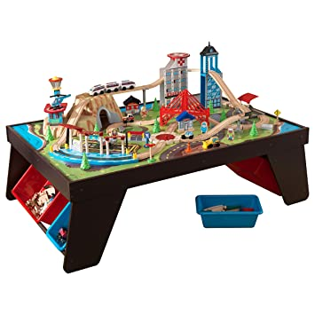 Amazoncom KidKraft Aero City Train Set  Table Toys  Games - Train set table