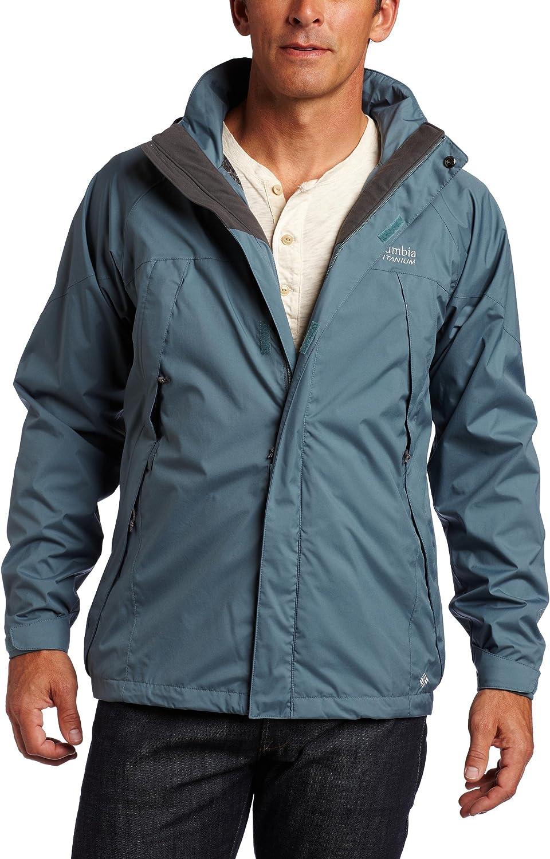 Extended Columbia Mens Raintech Rain Jacket