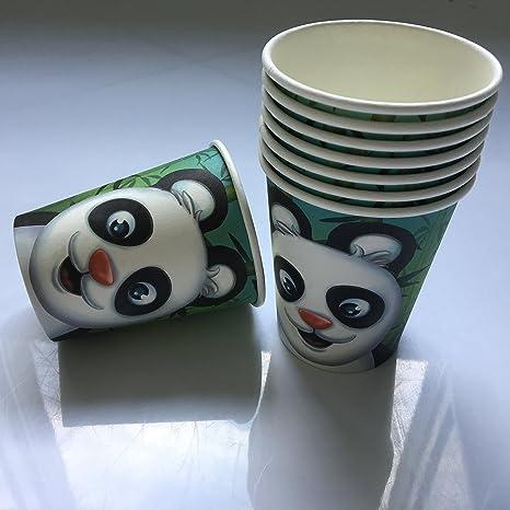 8 vasos * oso panda * Cumpleaños para niños o fiesta ...