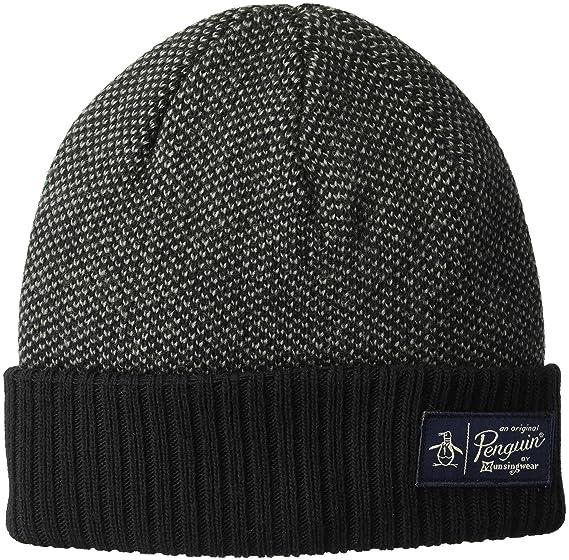 Amazon.com  Original Penguin Men s Birdseye Knit Beanie ac638597539