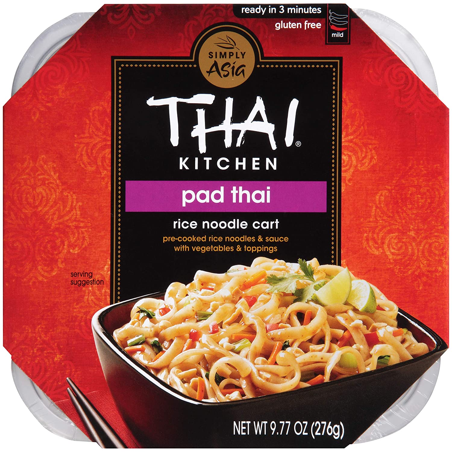 Thai Kitchen Gluten Free Pad Thai Rice Noodle Cart, 9.77 oz