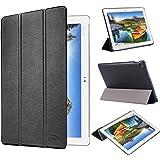 tinxi® PU artificial piel Funda para Asus ZenPad 10 Z300C / Z300CG / Z300CL / Z300M 10.1 pulgadas (25,4 cm) protectora Cover Tablet Notebook Case con el negro fondo