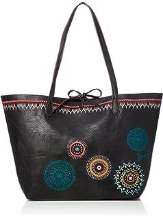 Desigual Bols_siara Capri Not Reversible, Shoppers y bolsos de hombro Mujer, Marrón (Beige Safari), 28x13x30 cm (B x HT)