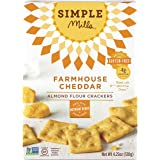 Simple Mills Naturally Gluten-Free Almond Flour Crackers, Farmhouse Cheddar, 4.25 oz