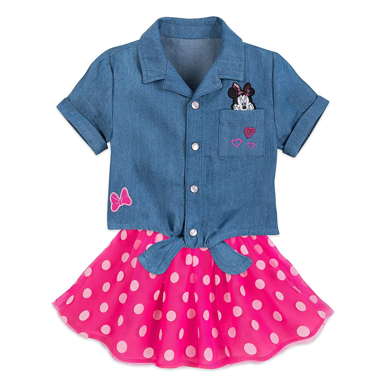 Disney Minnie Mouse Top and Skirt Set for Girls Size 3 Multi