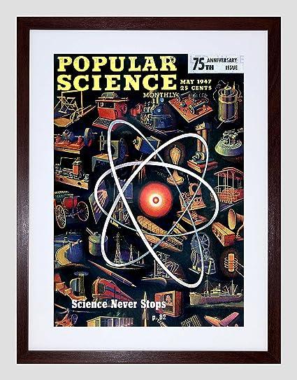 amazon com science magazine cover popular invention atom usa framed