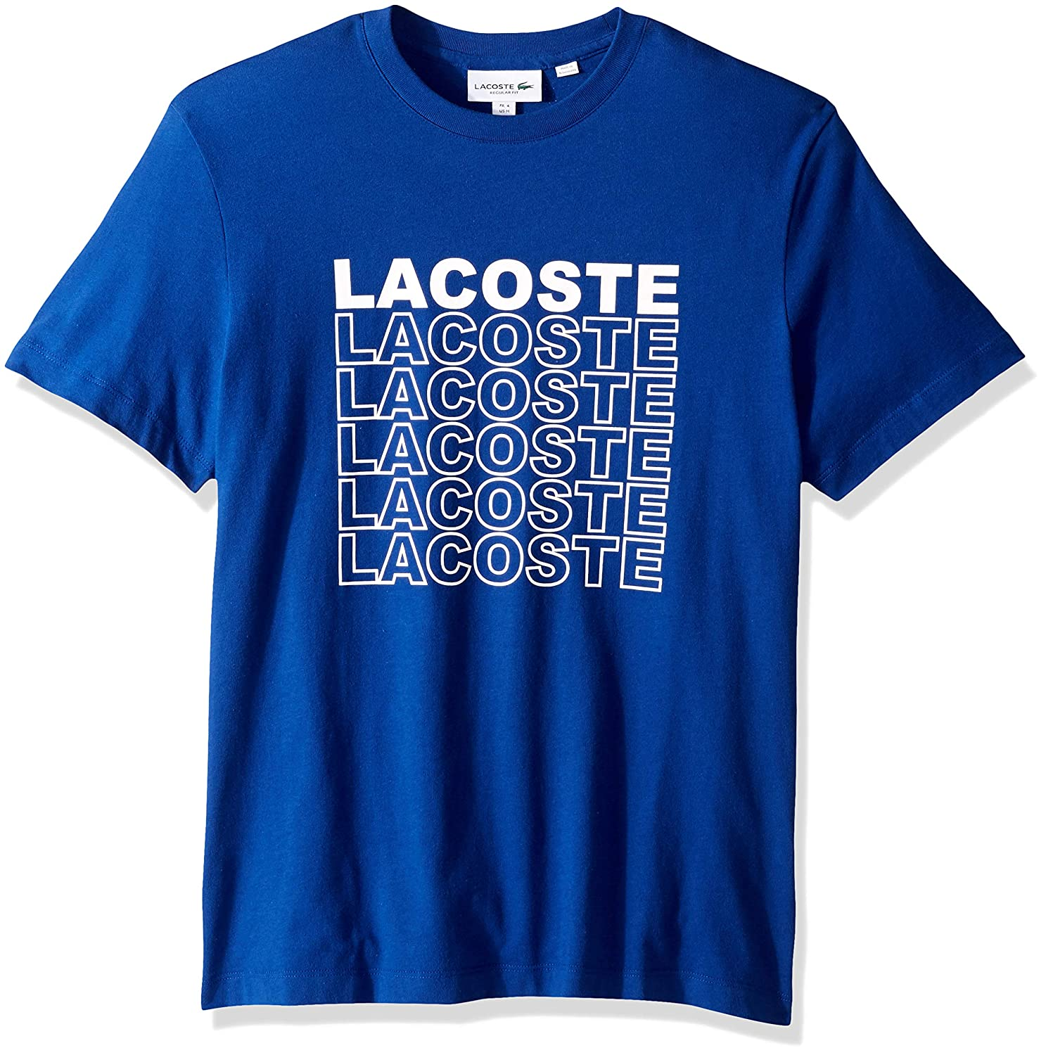 Lacoste Mens S//S Graphic Back T-Shirt