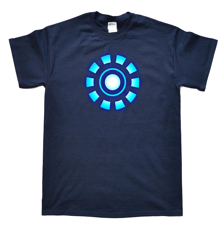 Stooble Men's Arc Reactor Navy T-Shirt, Size 2XL Stooble - 1ClickPrint