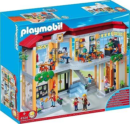 PLAYMOBIL Furnished School Building Construction Set