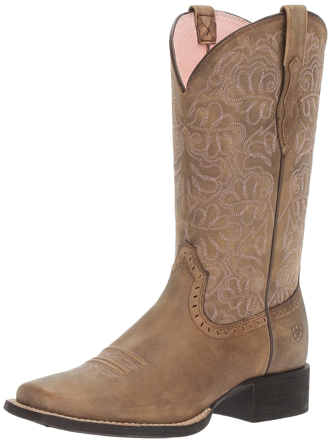 Ariat Women's Round up Remuda Western Cowboy Boot B01L91M312 6.5 B(M) US|Brown Bomber