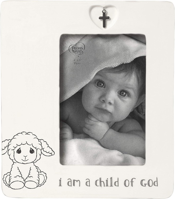 Precious Moments Child of God 4 x 6 Ceramic Baptism Charm 183434 Photo Frame One Size Multi
