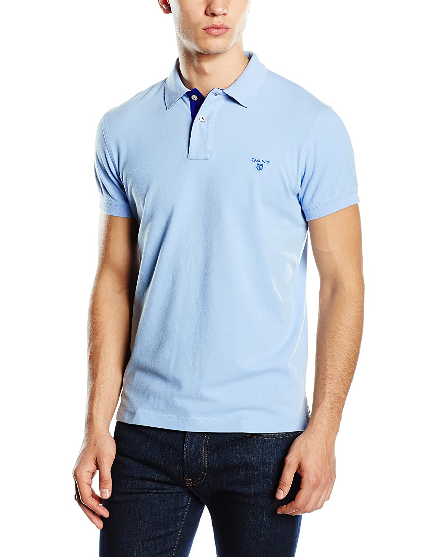 GANT Herren Poloshirt Contrast Collar Pique Rugger