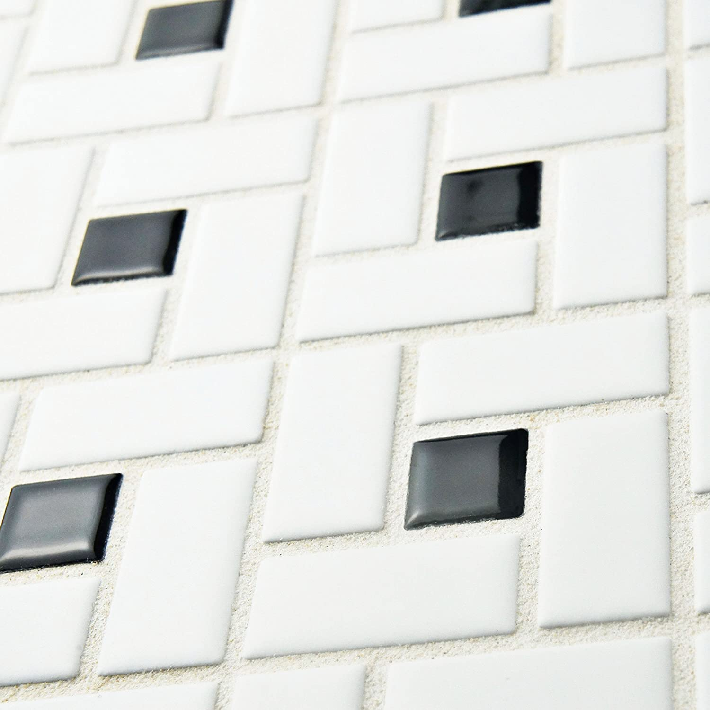 SomerTile FKOMSP20 Retro Spiral Porcelain Floor and Wall Tile, 12.5 ...