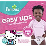 Pampers Easy Ups Training Underwear Girls 4T-5T (Size 6), 60 Count -- Packaging May Vary
