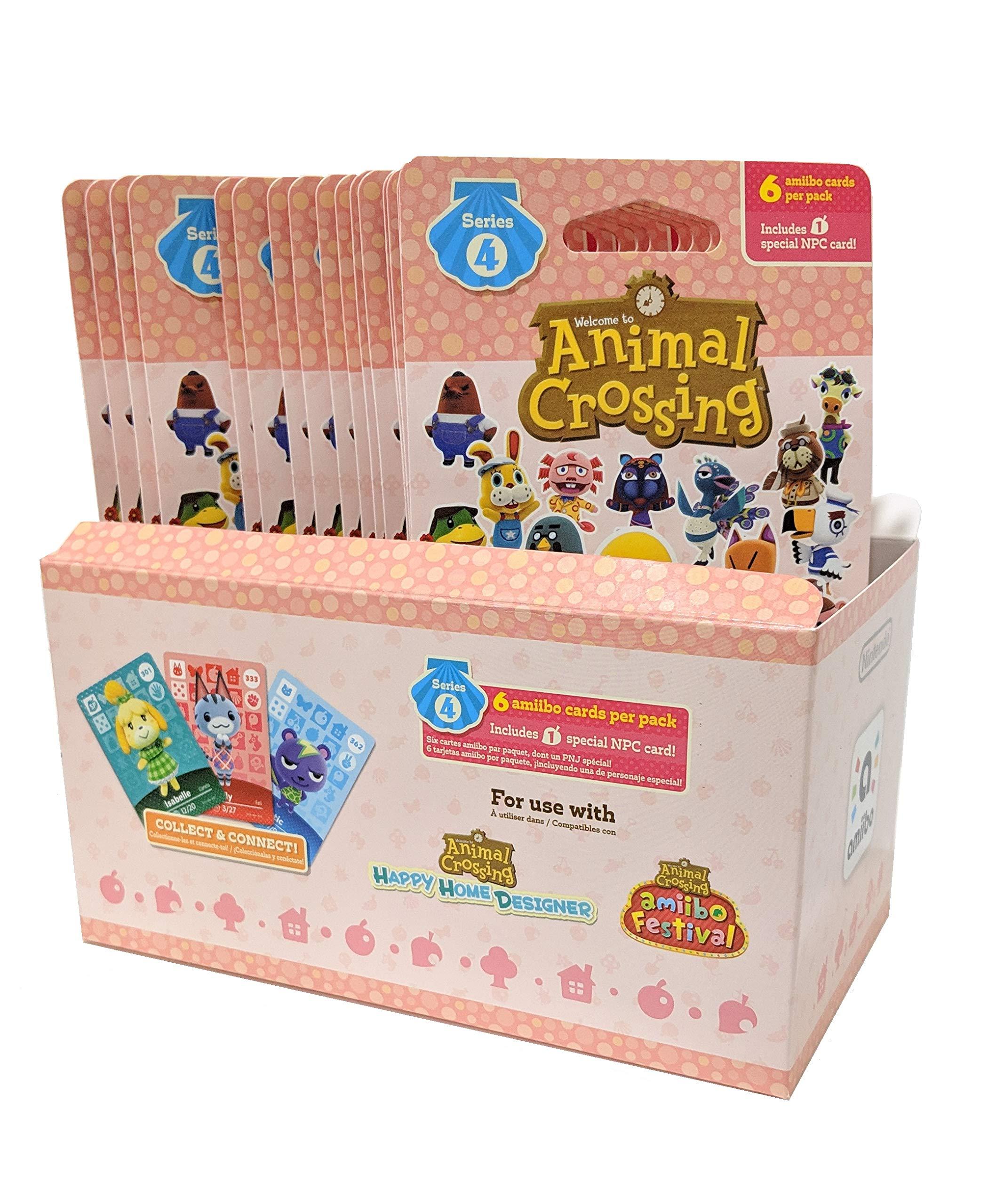 Animal Crossing Amiibo Cards Series 4 – Full box (18 Packs) (6 Cards Per Pack/108 Cards) …