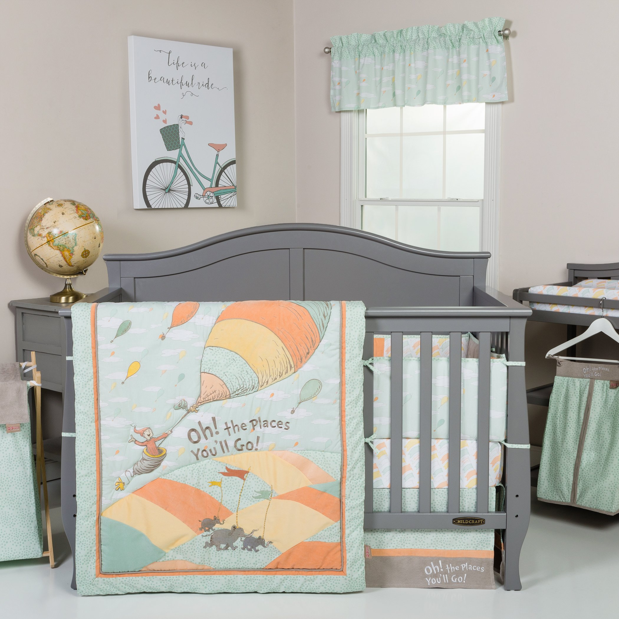 Trend Lab Dr. Seuss Oh, The Places You'll Go! Unisex 5Piece Crib Bedding Set by Trend Lab