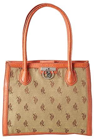 f10cc84414b Amazon.com  U.S. Polo Assn. Classified Jacq Tote Shoulder Bag,Chino ...