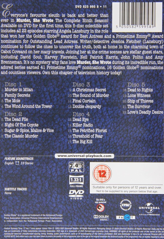 Amazon com: Murder, She Wrote - Season 9 [DVD] [1993