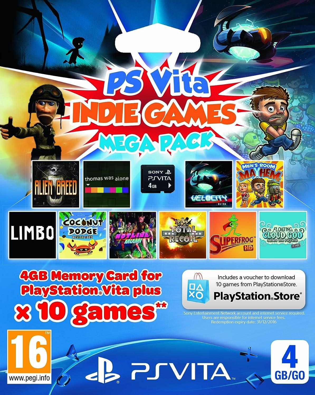 Sony PlayStation Vita Indie Games Mega Pack Voucher Plus 4 GB ...