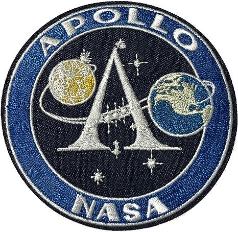 Apollo NASA parche bordado para planchar o coser, con logo de la ...