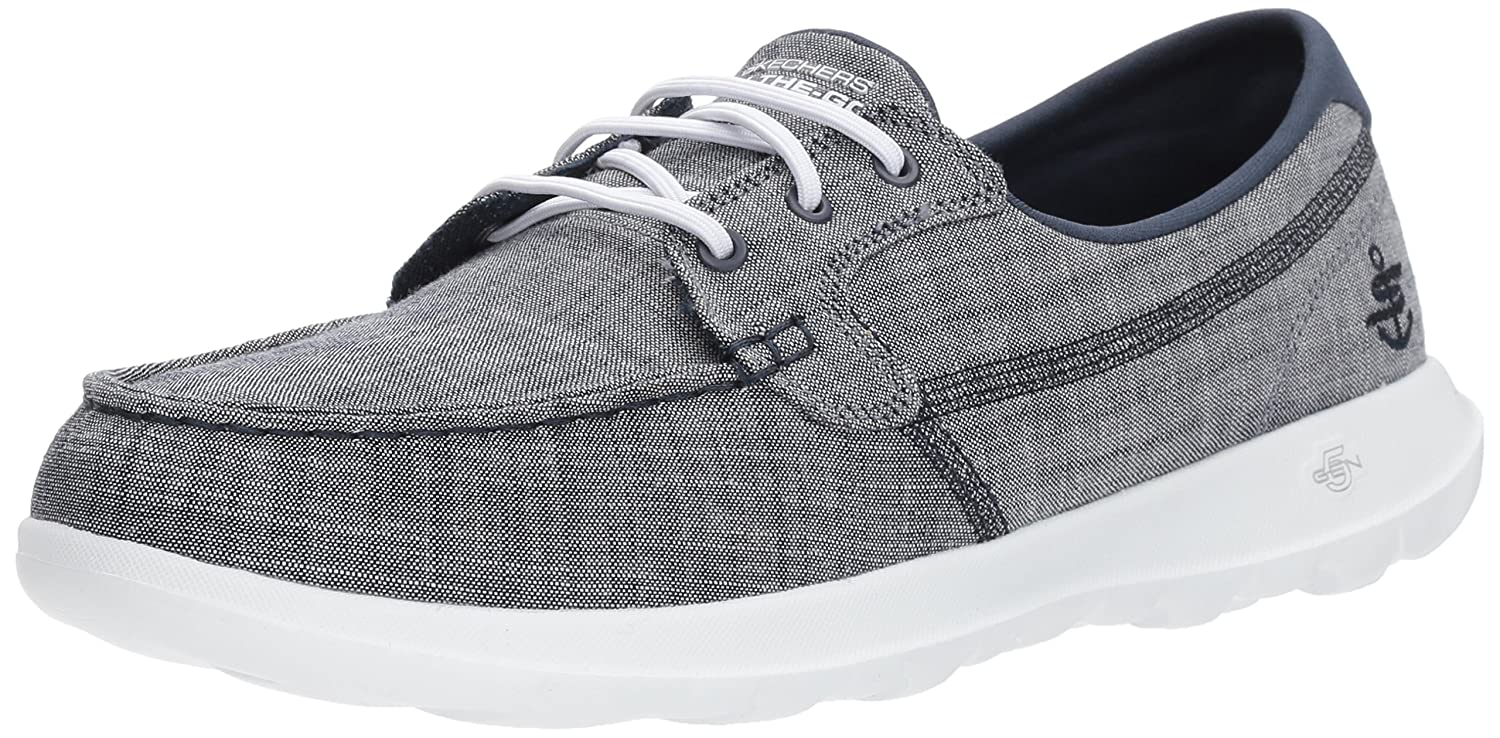 Skechers Women's Go Walk Lite-15433 Boat Shoe B072KT1DFZ 9.5 B(M) US|Navy