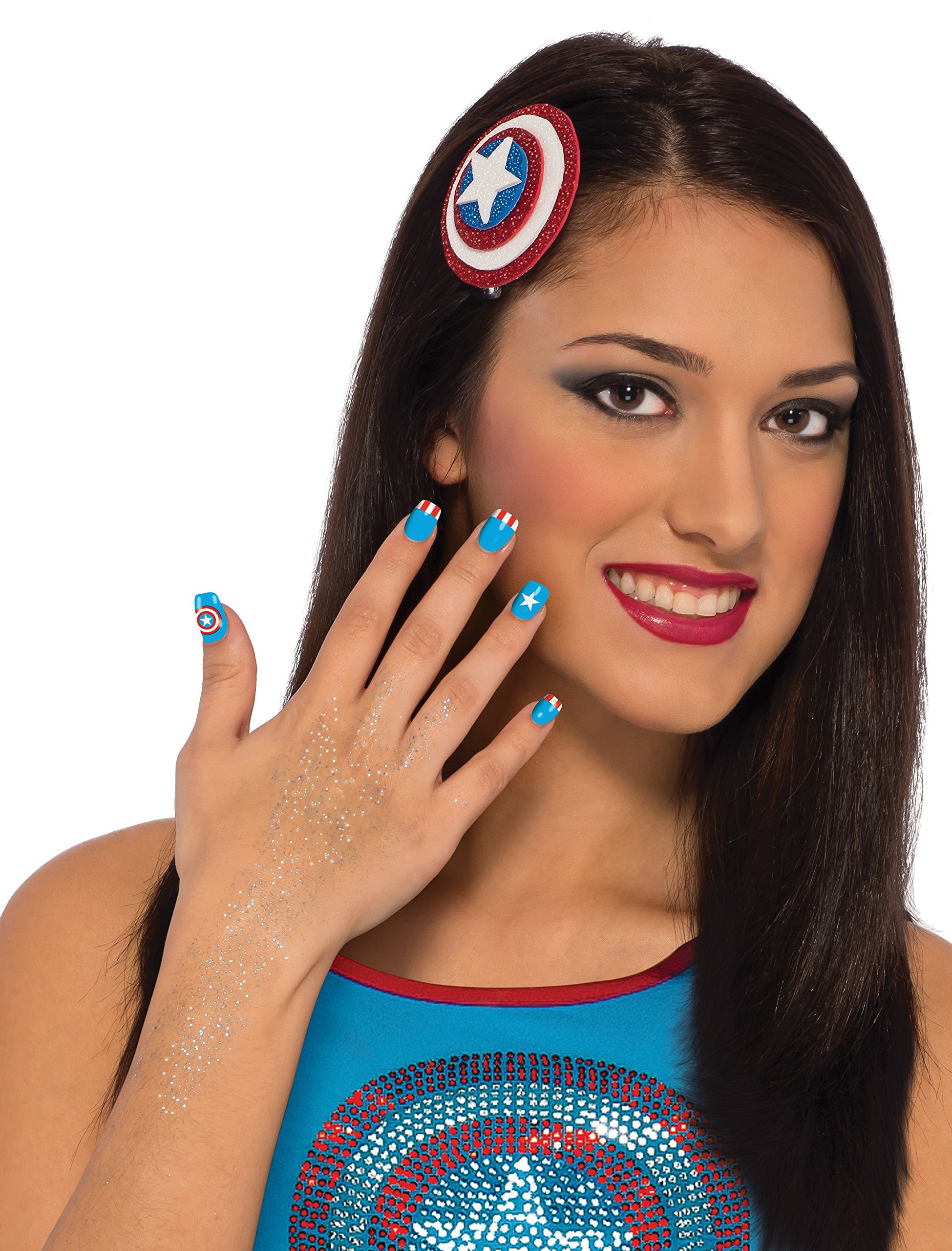Rubie's Marvel Women's Universe American Dream Hair and Nails Kit, Multi, One Size
