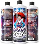 GRAND MASTER SMOKE (32oz) GLASS PIPE CLEANER/BONG CLEANER (Formerly Zen Master Cleaner) Biodegradable Formula - for cleaning your heady glass - 420 & 710 cleaner - removes tar, oil, wax & resin