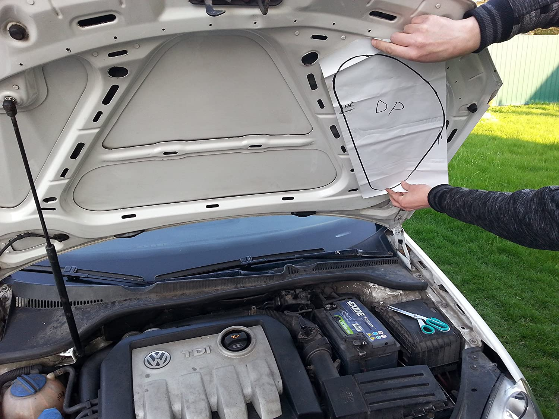 Car colour heat absorption - Car Sound Noise Buffler 20 Deadening Under Bonnet Hood Sound Proofing Heat Proof Absorber 20mm 2pcs X 980mm X490mm 0 96 Square Meter Total Amazon Co Uk