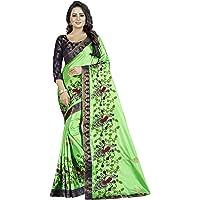 Shreeji Designer Women's Papper Silk Fabric Ari Embroidery Work Saree With Jacquard Blouse Piece SD-2235