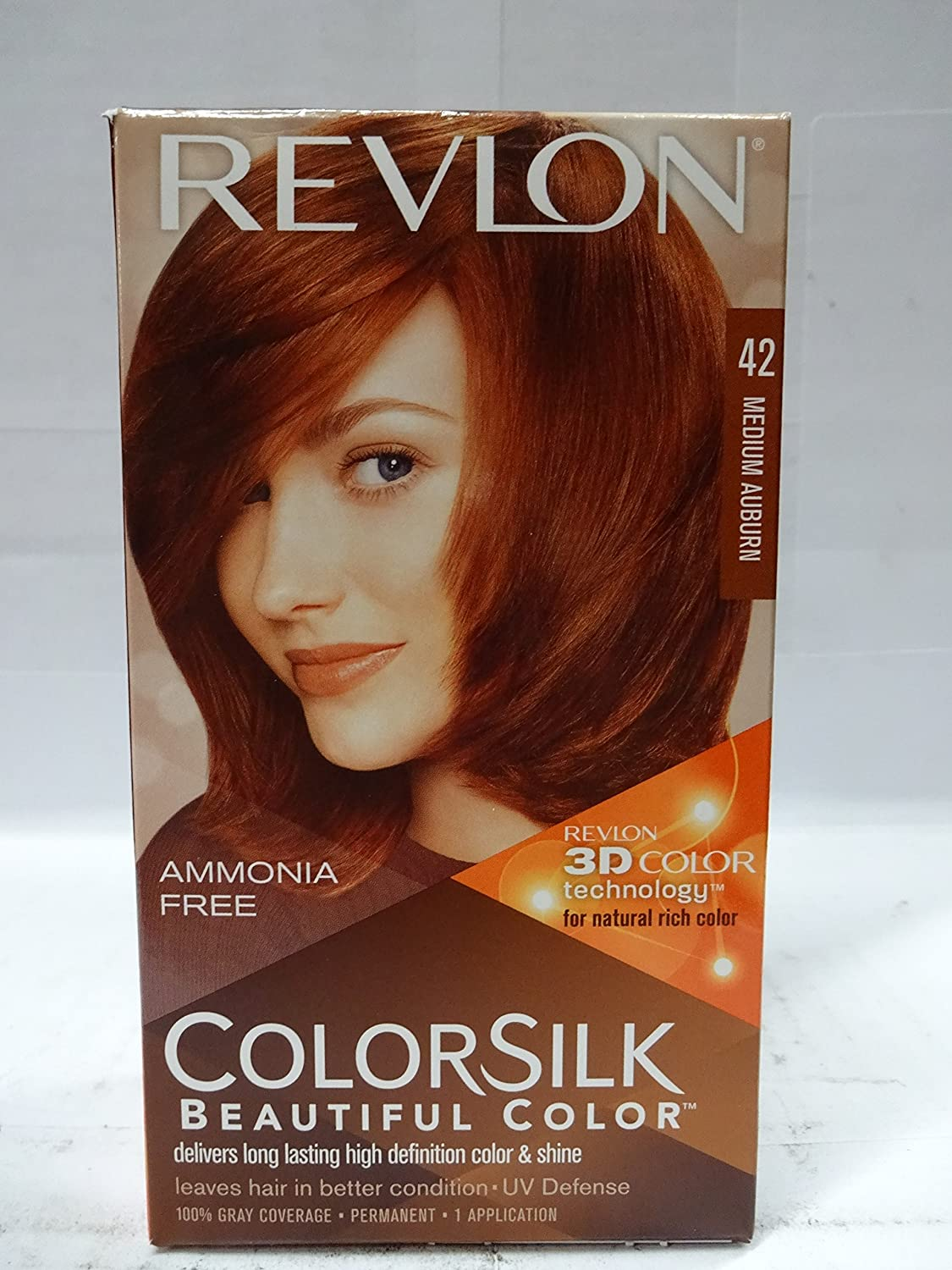 Amazon.com : Colorsilk Permanent Hair Color, Medium Auburn (42/4R ...