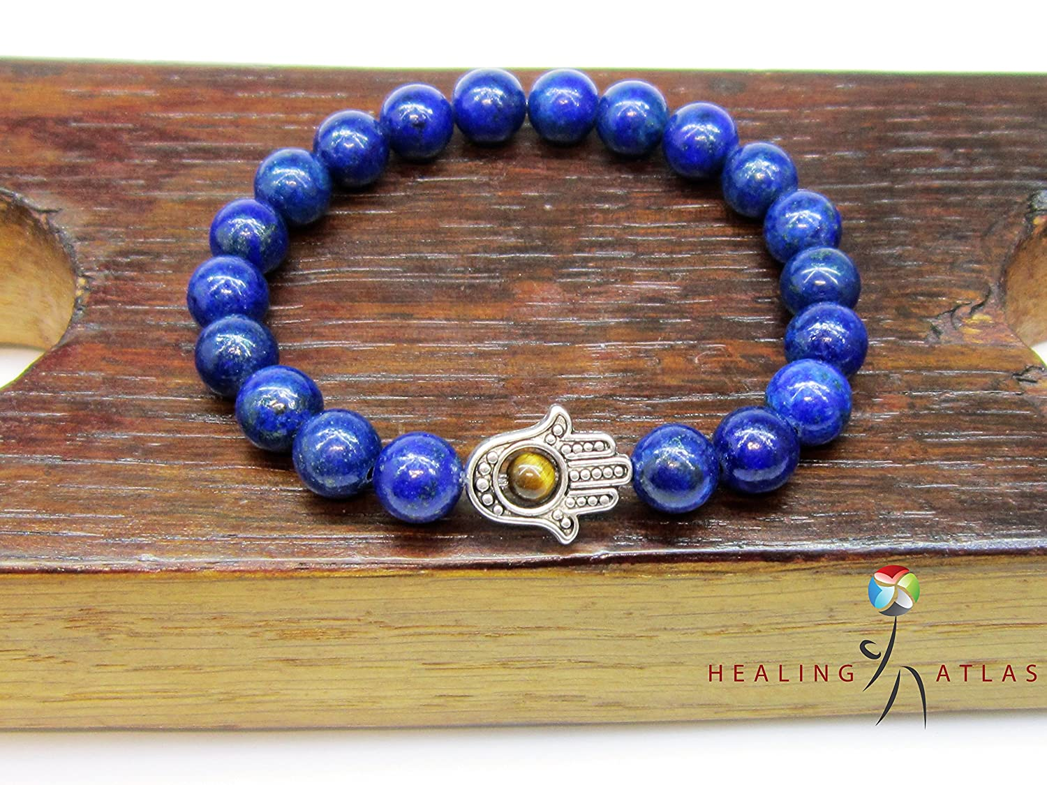 Tiger Eye stone bracelet with Hamsa Fatima hand jewelry gift for women Protection and Good luck amulet 8mm Yoga gift