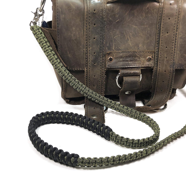 Lunch Bag Satchel Strap Olive Drab and Moss Green Camo Paracord 46 inch Cross Body Shoulder Strap Handbag Duffel Bag