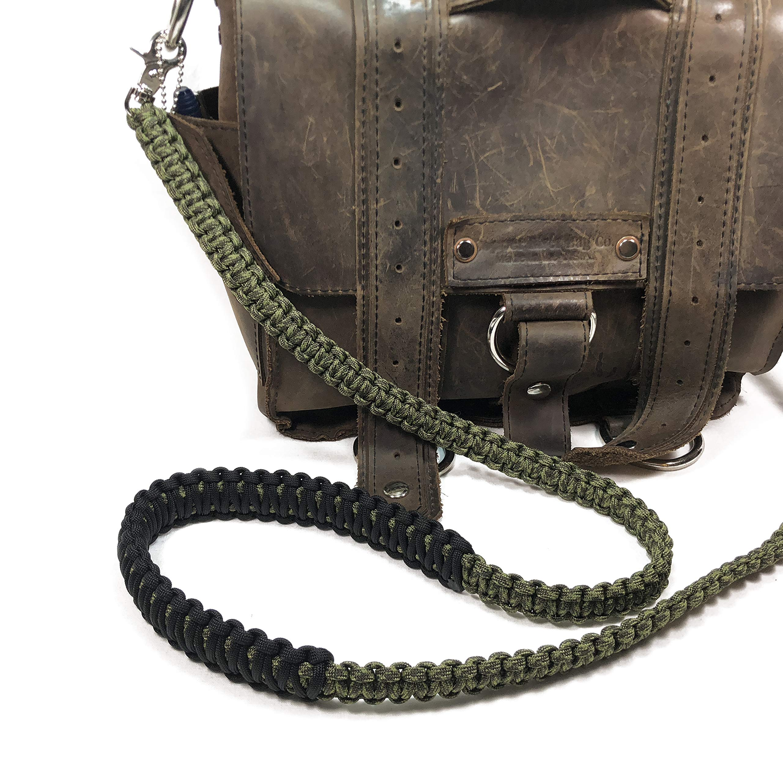 Stupid Straps Olive Drab and Moss Green Camo Paracord 50 inch Cross Body Shoulder Strap, Handbag, Messenger, Satchel Strap, Duffel Bag, Lunch Bag by Stupid Straps