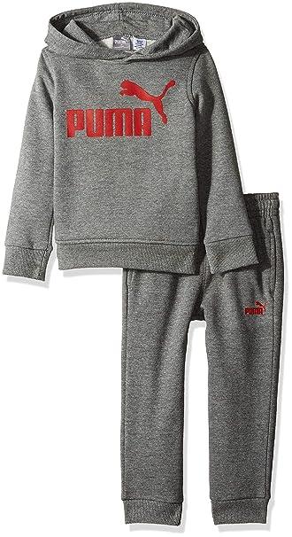 PUMA Baby-Boys Boys Fleece Zip Up Hoodie Set Hooded Sweatshirt