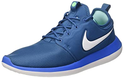 check out ab4b7 21e20 Nike Mens Roshe Two Training Casual Running Shoes Blue 8 Medium (D)