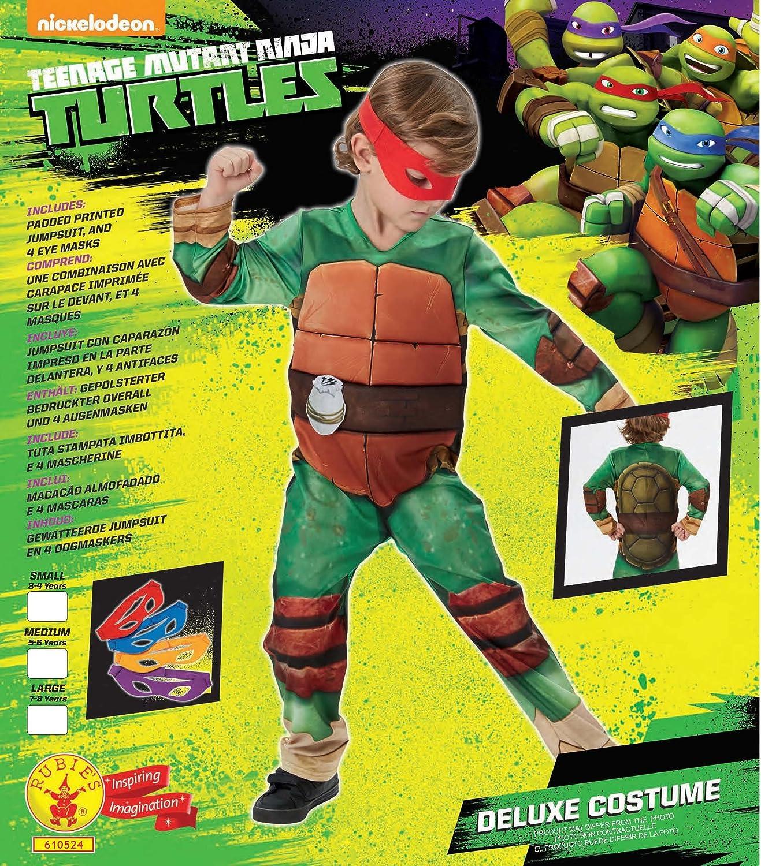 Rubies - Disfraz Tortugas Ninja para niños de 5-6 años, talla M (I-610524M)