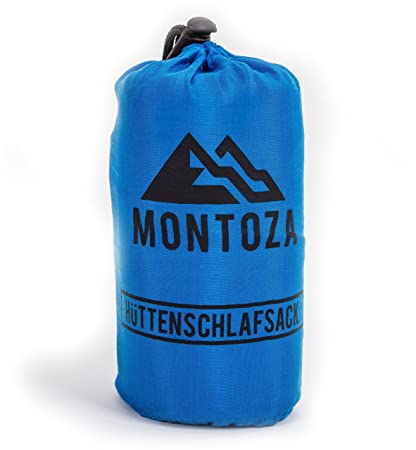 Vorschau von neues Konzept absolut stilvoll montoza Hüttenschlafsack - Ultraleicht 170g blau - Inlett aus Seide und  Baumwolle - Reiseschlafsack leicht, dünn, warm